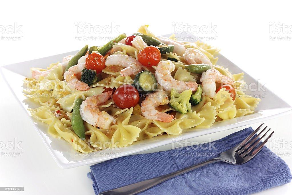 Pasta and Shrimp Salad royalty-free stock photo