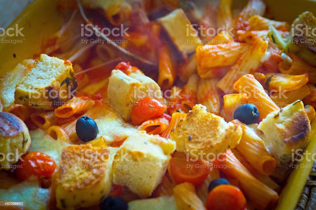 Pasta bake stock photo