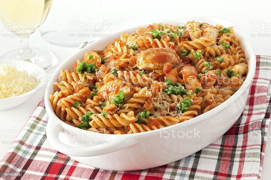 Pasta Bake with Chicken stock photo