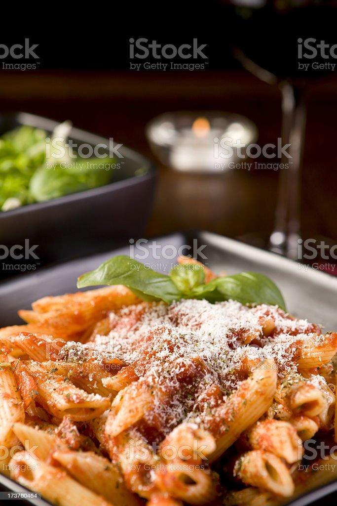 Pasta Bolognese Dinner royalty-free stock photo