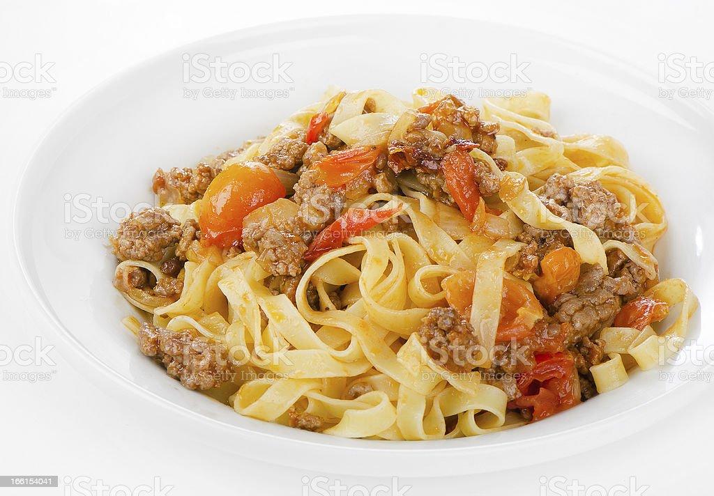 Pasta bolognese royalty-free stock photo