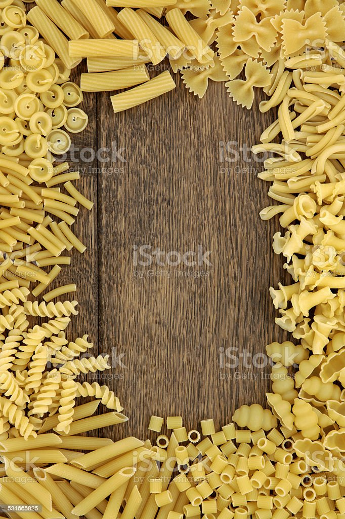 Pasta Border stock photo