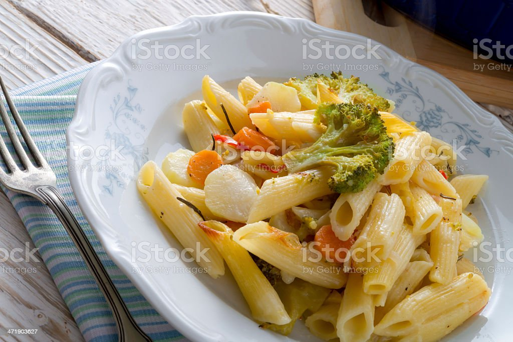 Pasta Casserole with vegetables stock photo