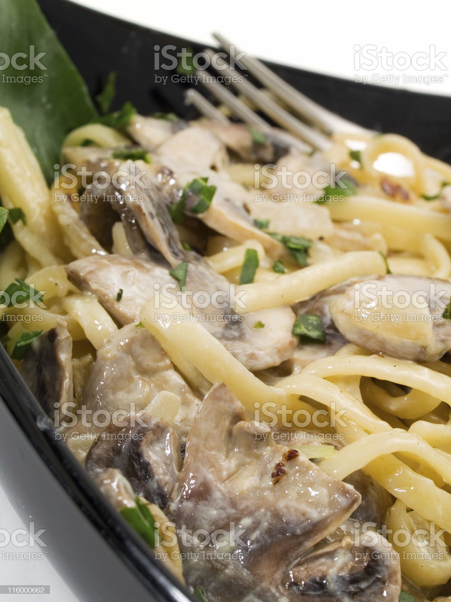 Pasta Collection - Linguini With Mushrooms royalty-free stock photo