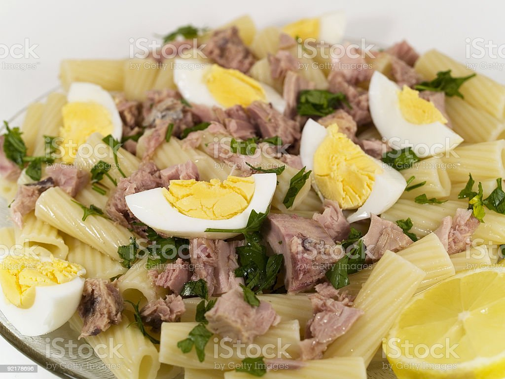 Pasta Collection - Macaroni with Tuna royalty-free stock photo