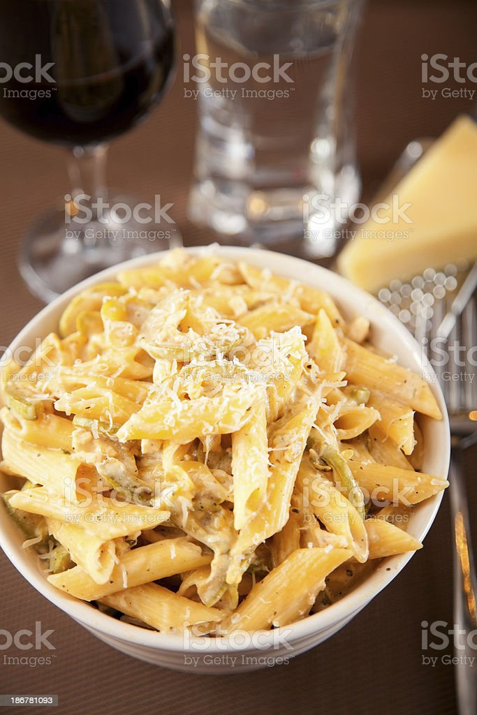 Pasta Collection - Penne with cheese royalty-free stock photo