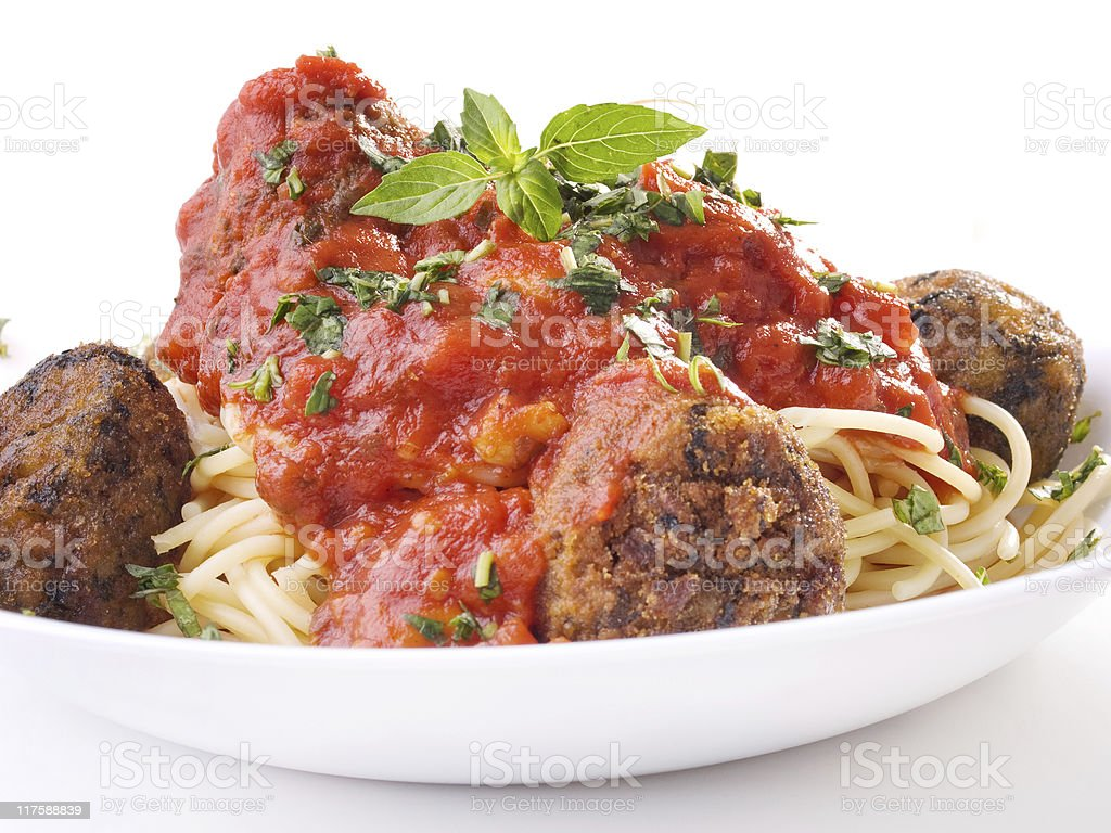 Pasta Collection - Spaghetti with meatballs royalty-free stock photo