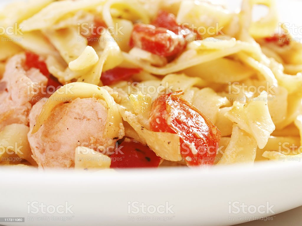 Pasta Collection - Tagliatelle with Salmon royalty-free stock photo