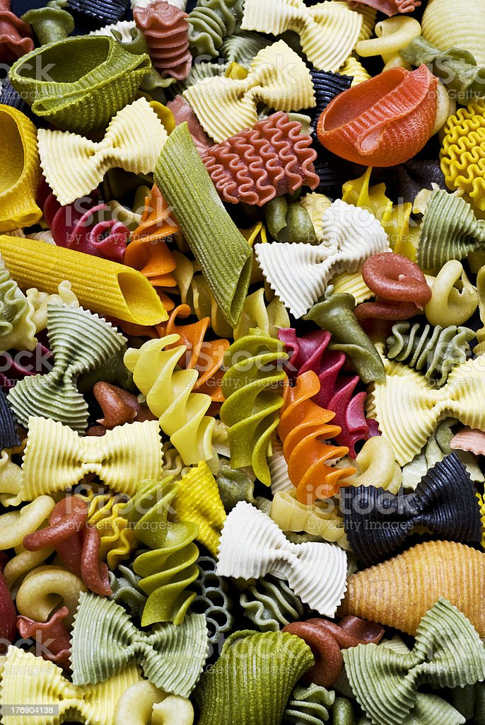 Pasta colorada stock photo