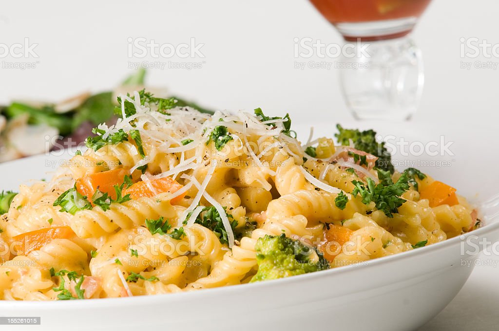 Pasta Dinner royalty-free stock photo