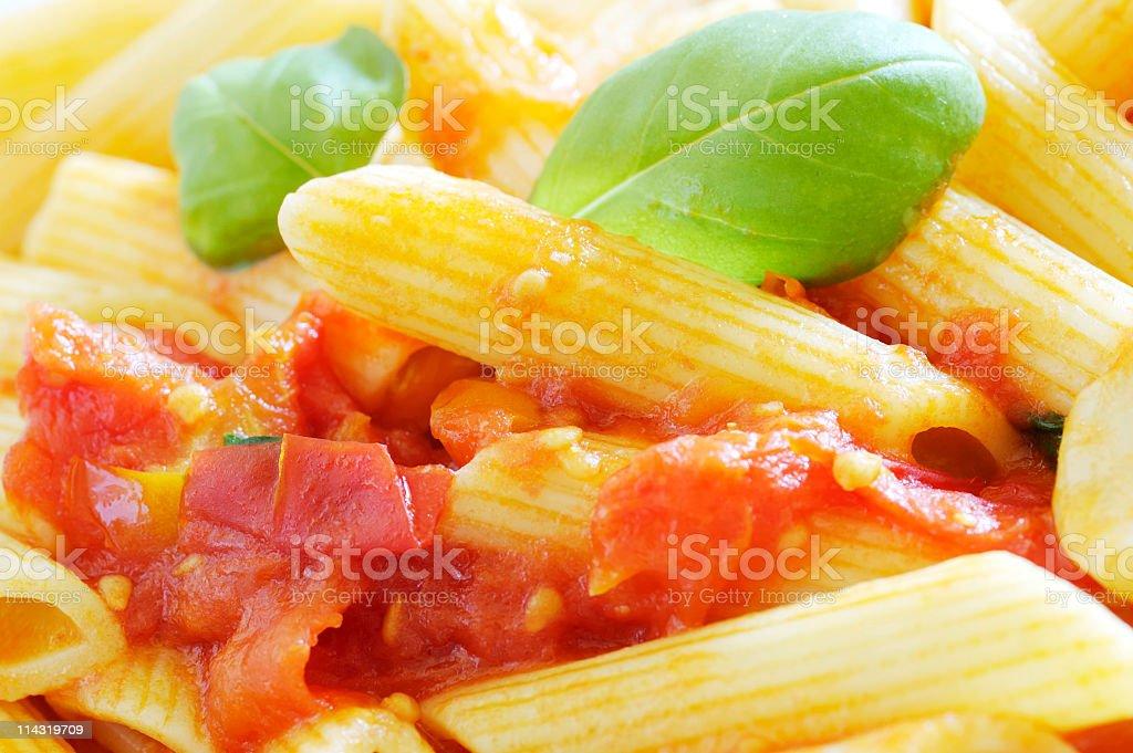 Pasta Dish Close-Up royalty-free stock photo