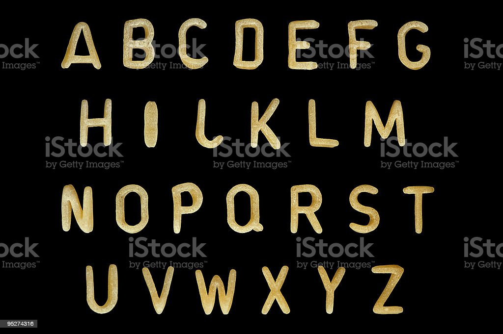 pasta font stock photo