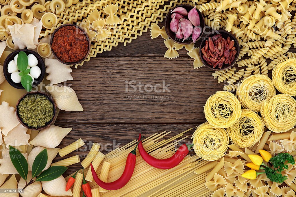 Pasta Food Ingredients stock photo