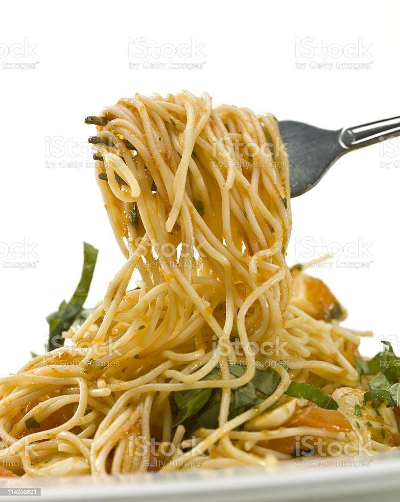 Pasta for dinner stock photo
