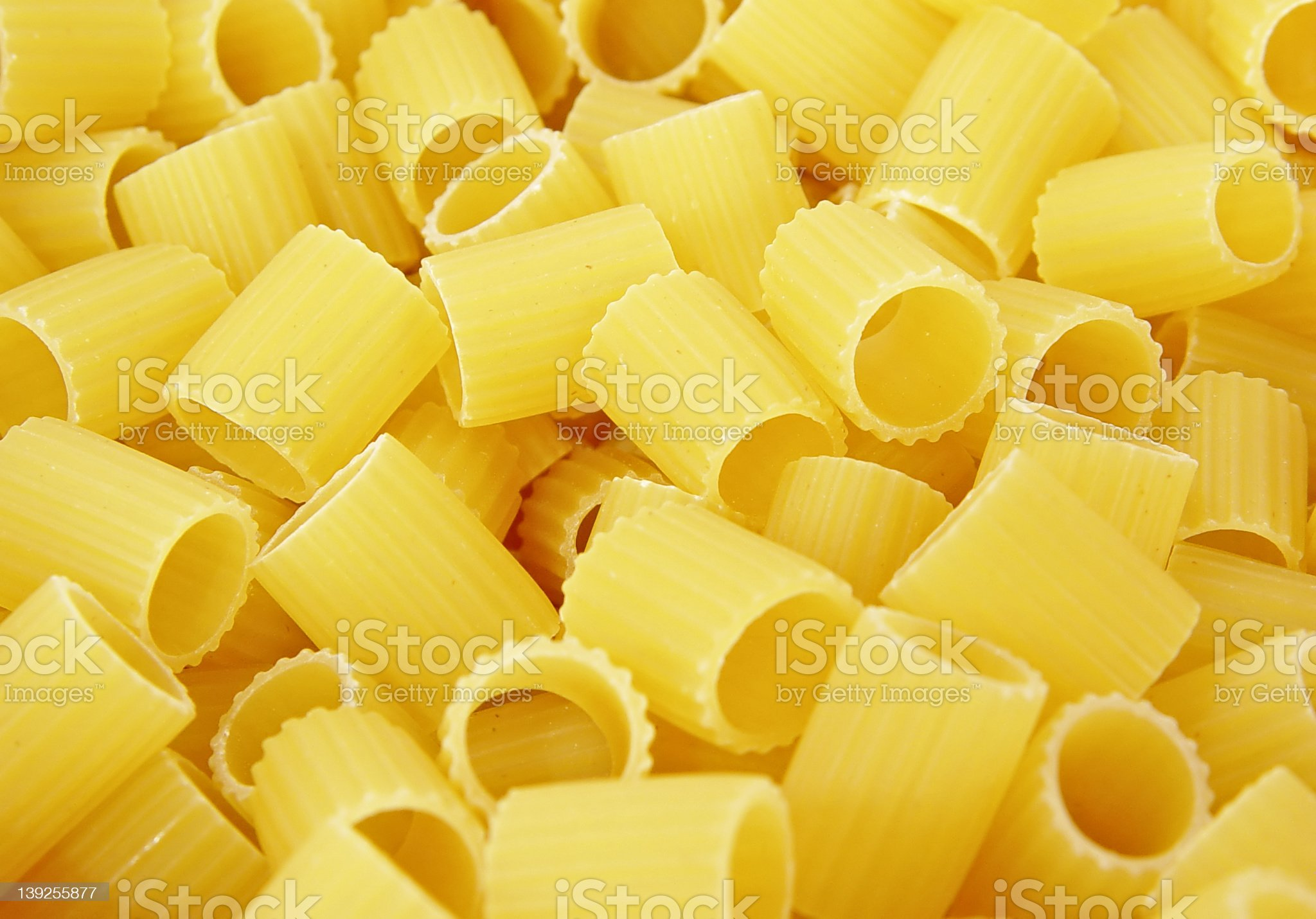 Pasta - Mezzi Rigatoni royalty-free stock photo