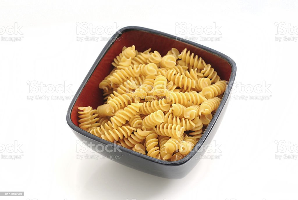 Pasta in bowl royalty-free stock photo