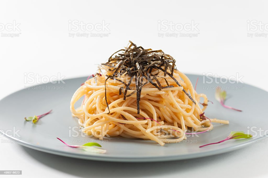 Pasta in Japanese style stock photo