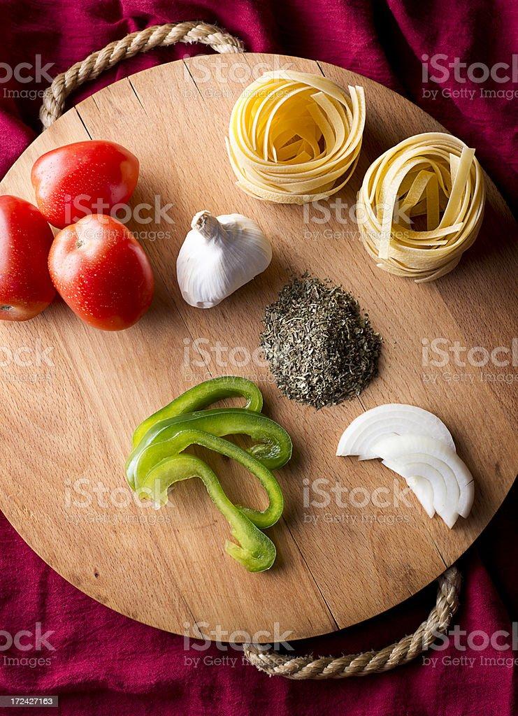 Pasta Ingredients royalty-free stock photo