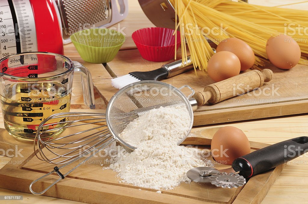 Pasta ingredients. stock photo