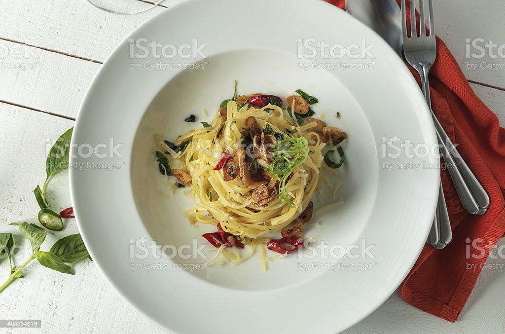 Pasta Linguine royalty-free stock photo