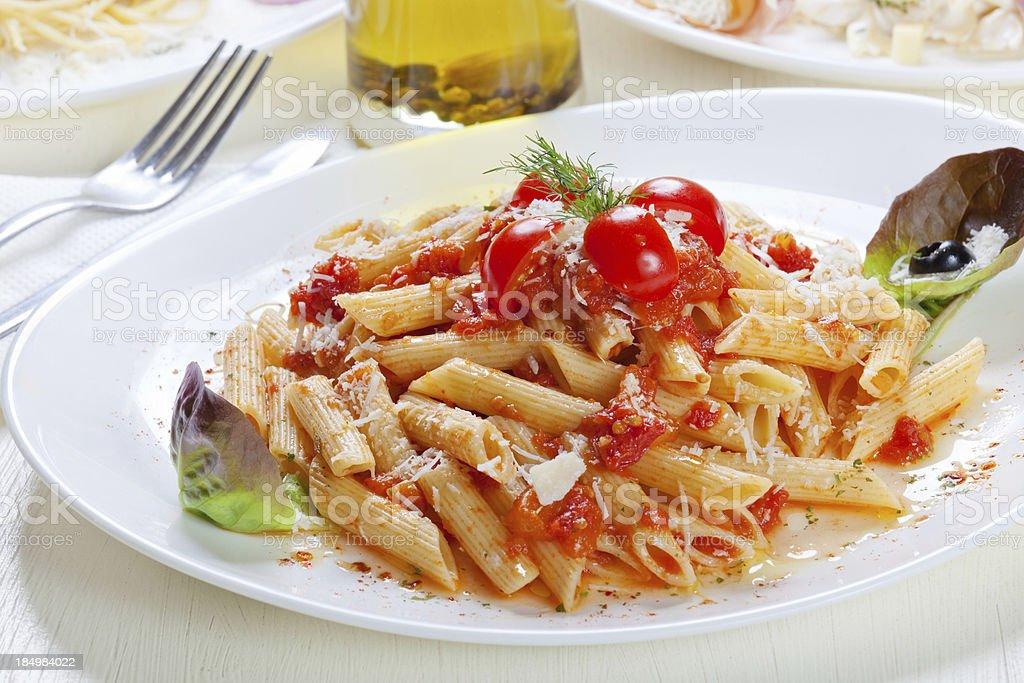 Pasta Napolitana royalty-free stock photo