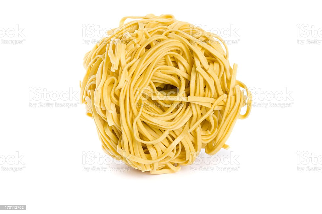 pasta nest stock photo