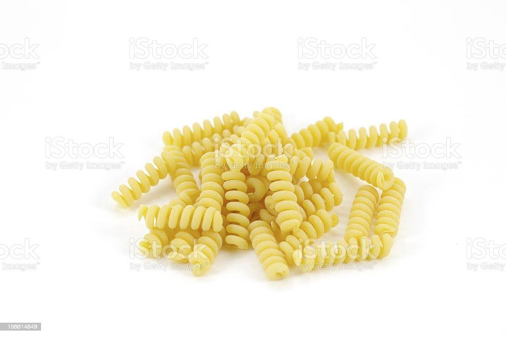 Pasta noodles on white background, isolated royalty-free stock photo