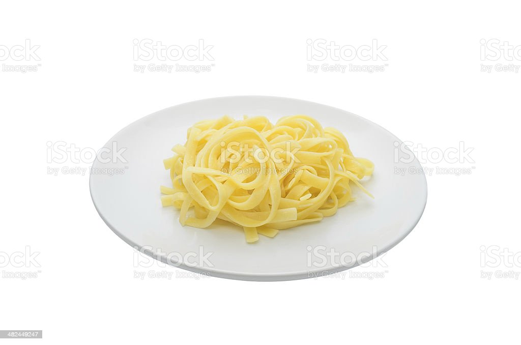 Pasta on white dish stock photo