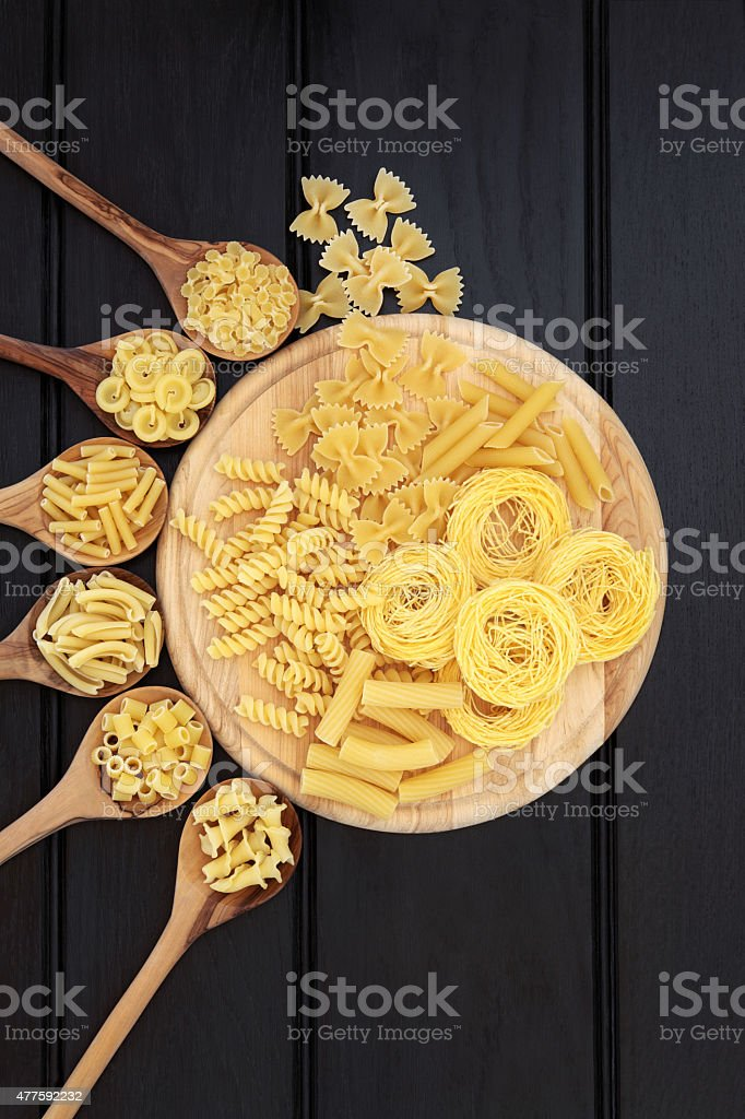 Pasta on Wood stock photo