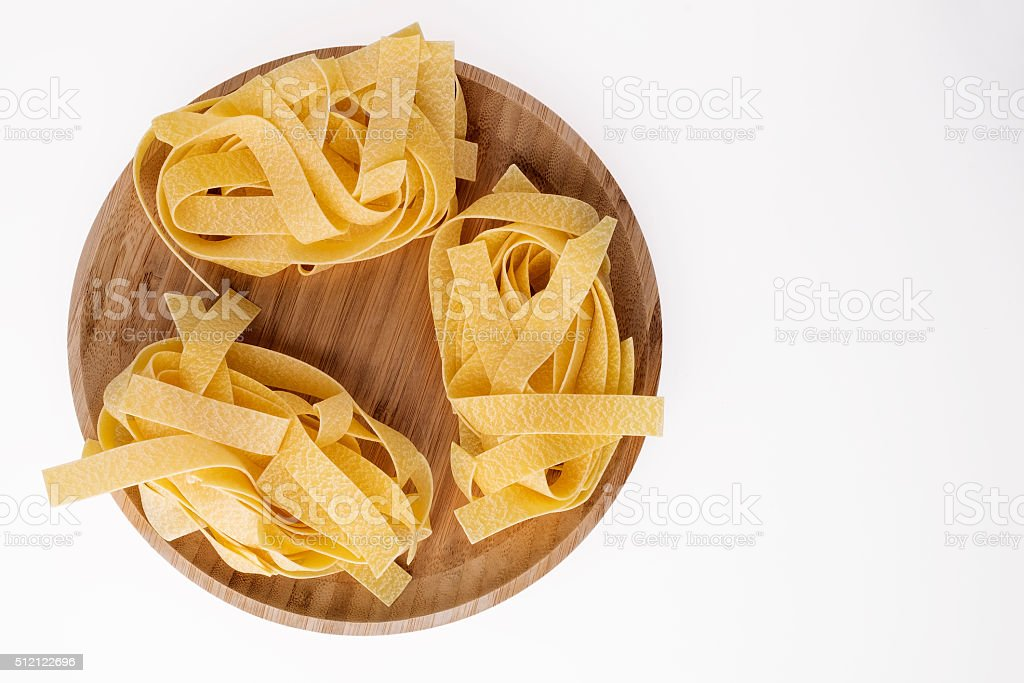 Pasta Parpardelle stock photo
