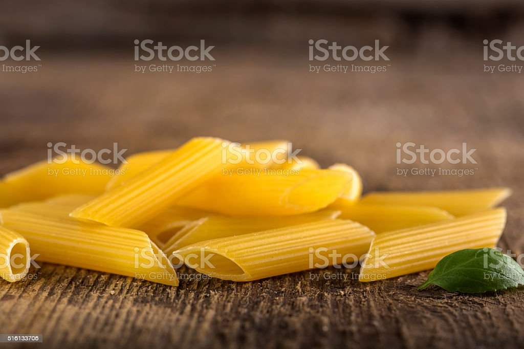 Pasta Penne Rigate stock photo