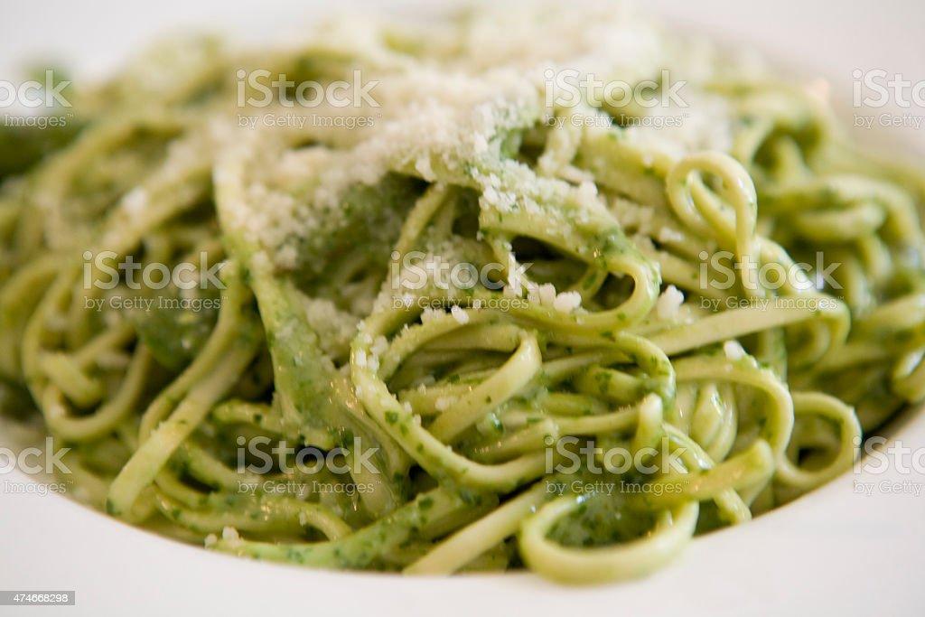 Pasta Pesto stock photo