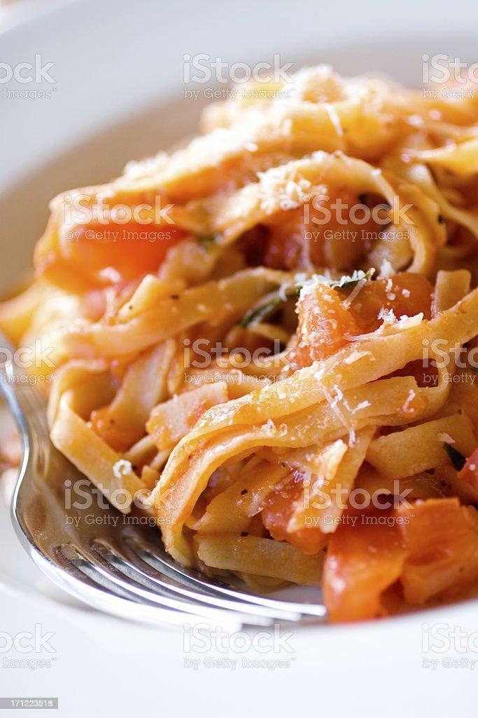Pasta Pomodoro royalty-free stock photo