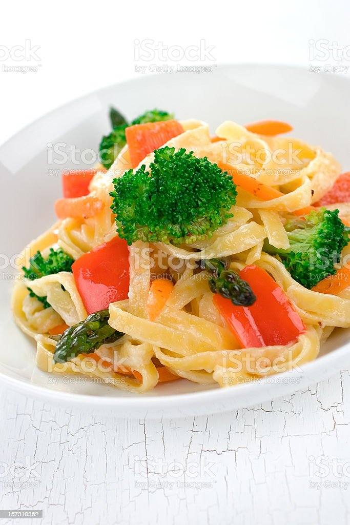 Pasta Prima Vera royalty-free stock photo