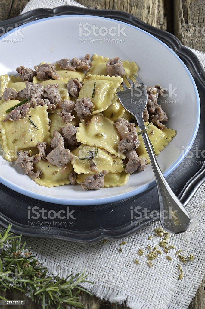 Pasta. Ravioli. royalty-free stock photo