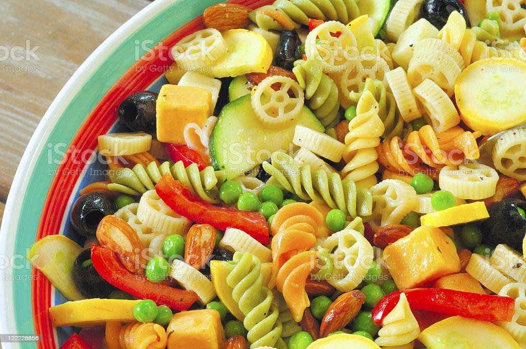 Pasta salad close royalty-free stock photo