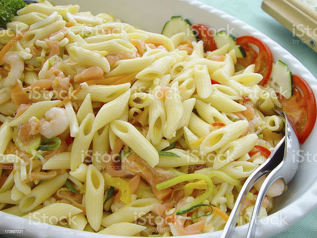 Pasta salad royalty-free stock photo