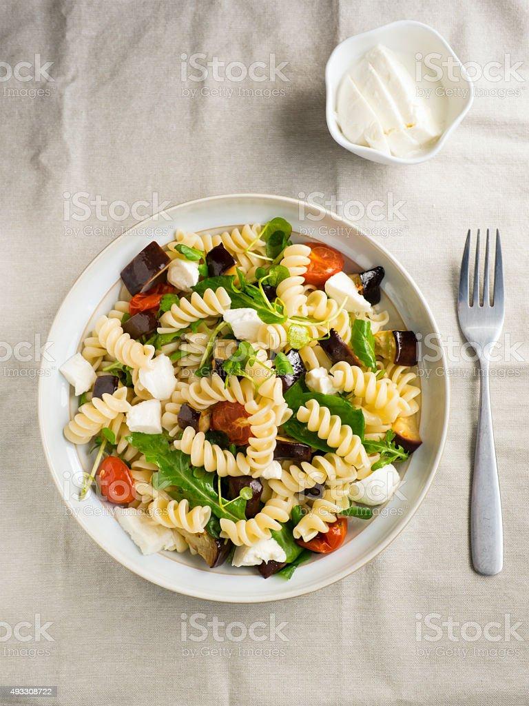 Pasta salad stock photo