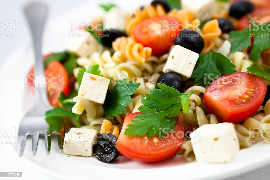 Pasta Salad with Feta stock photo