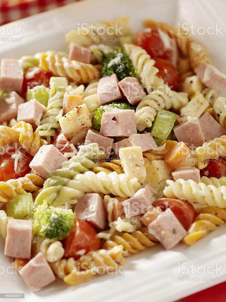 Pasta Salad with Ham royalty-free stock photo