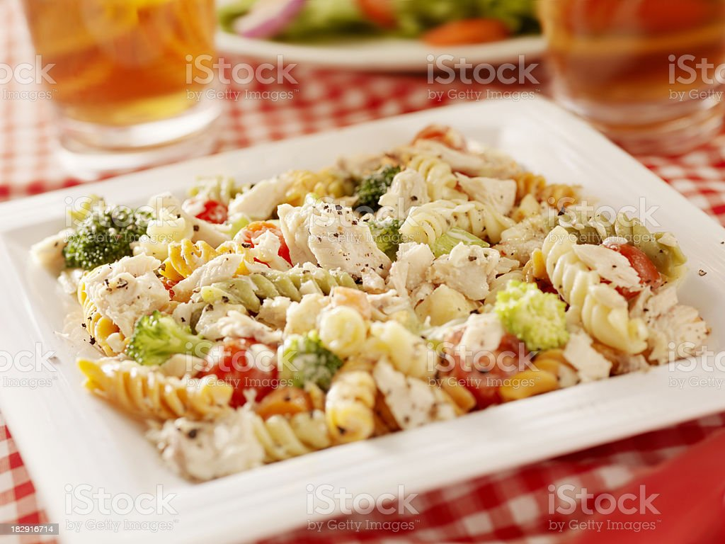 Pasta Salad with Tuna and Fresh Vegetables royalty-free stock photo