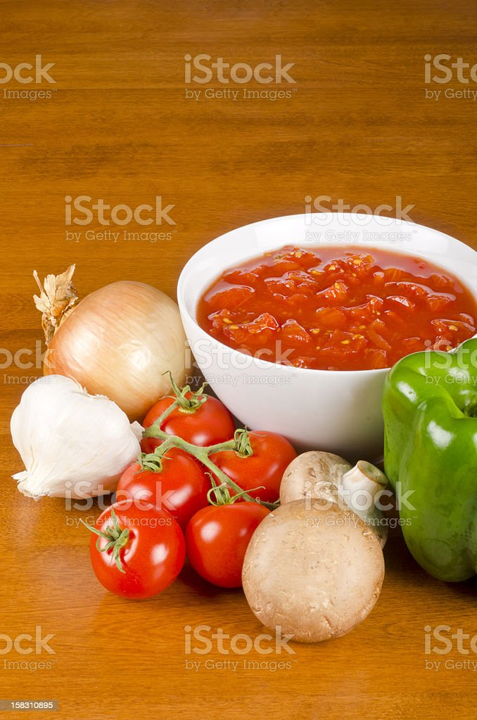 Pasta Sauce Ingredients royalty-free stock photo