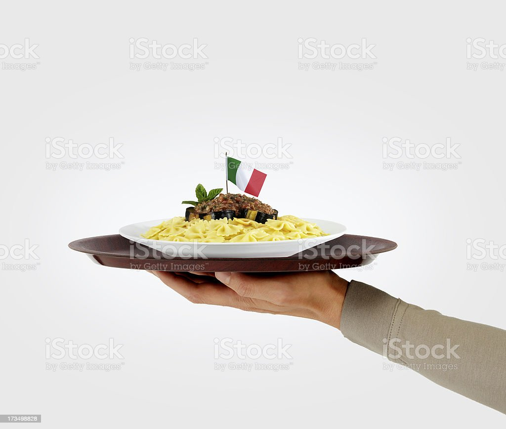 pasta service royalty-free stock photo
