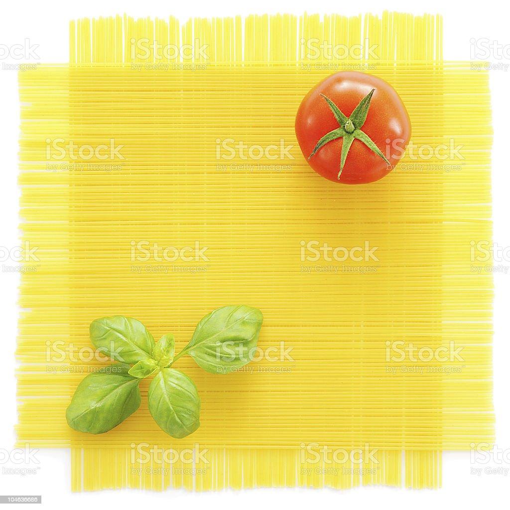 Pasta Setting royalty-free stock photo