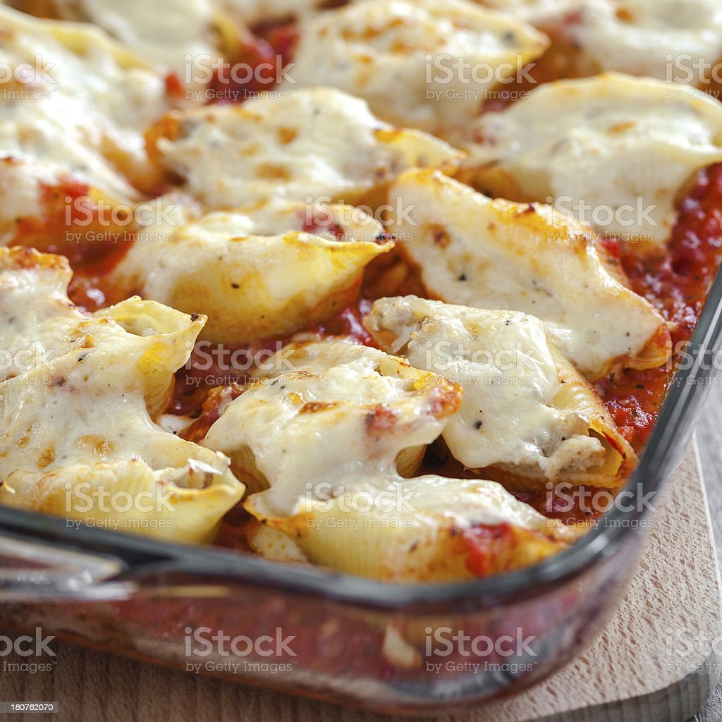 Pasta shells stock photo