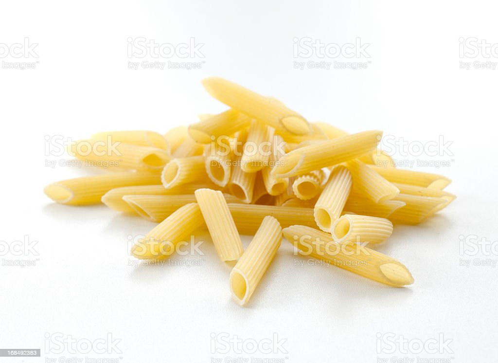 pasta tubes, Penne stock photo