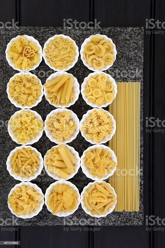 Pasta Types stock photo