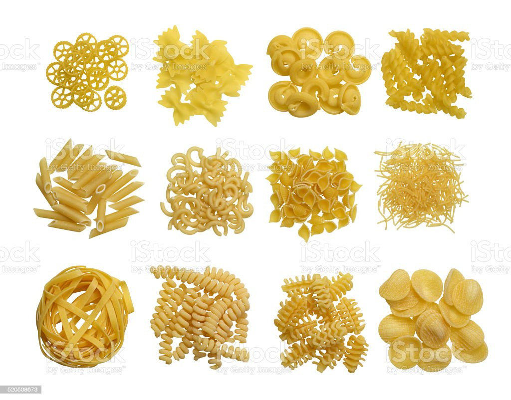 Pasta variation stock photo