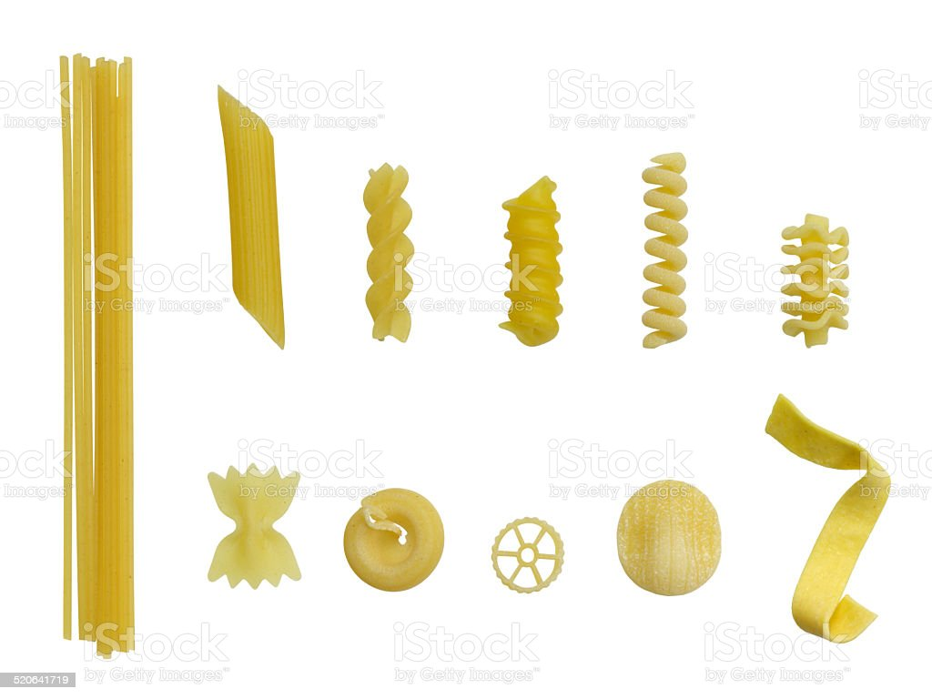 Pasta variation stock photo