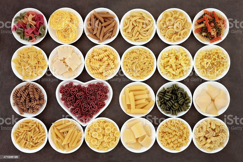 Pasta Varieties stock photo